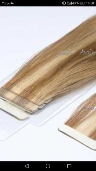 Extensiones adhesivas cabello humano