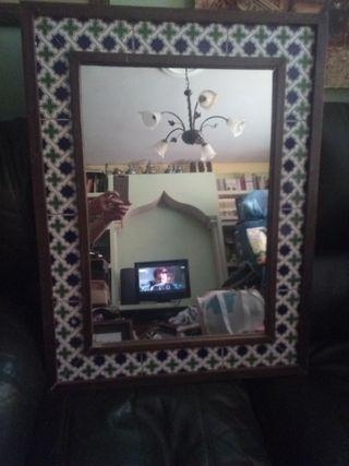 espejo azulejos