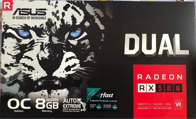 Tarjeta gráfica RX580 radeon 8gb