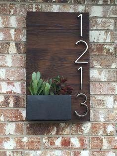 Número de puerta de hogar