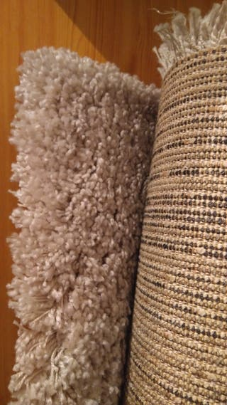 alfombra blanca - crudo ideal. oferta