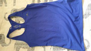 camiseta azul domyos. talla s.