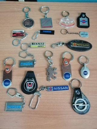 Llaveros antiguos marcas coches