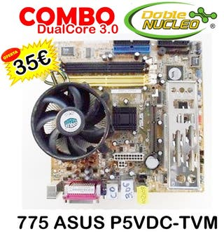 35€ COMBO DUALCORE 775 ASUS P5VDC-TVM
