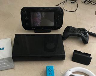 Nintendo Wii U + juegos + accesorios