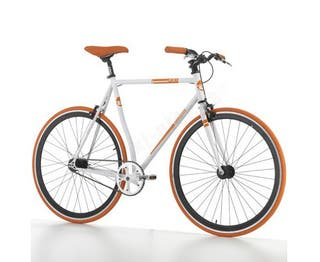 Bici JUMPERTREK POLO FIXIE BLANCO/NARANJA