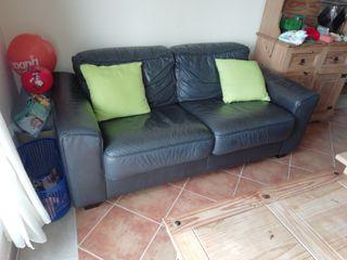 sofá cama de cuero