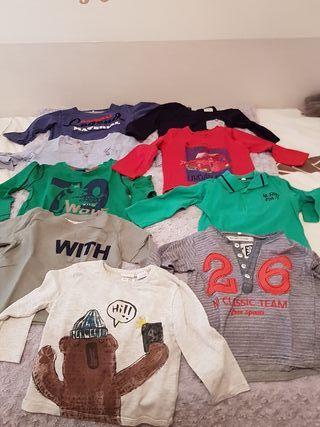 Lote 9 Camisetas manga larga.