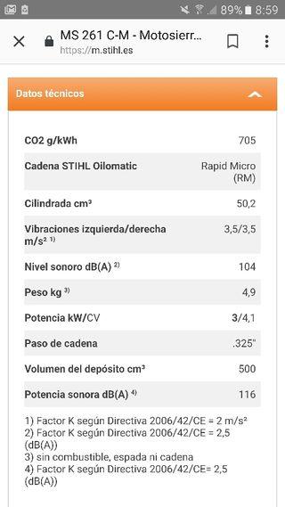 motosierra stihl ms 261c-mb