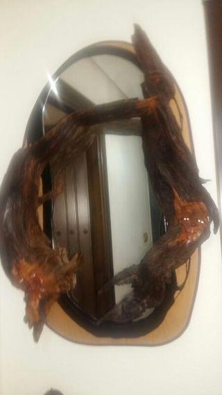 espejo de madera de parra