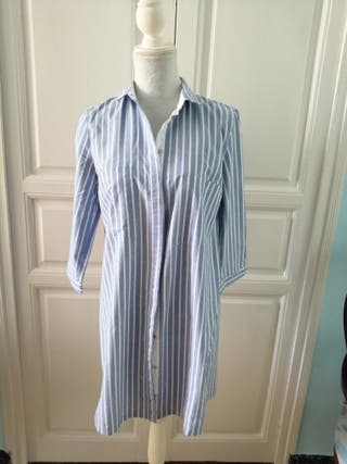 Blusón vestido rayas Zara de segunda mano por 15 € en