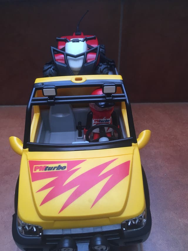 Playmobil 4228 pick up con quad