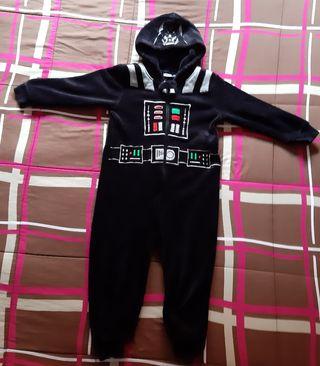 pijama disfraz star wars talla 4-5 años