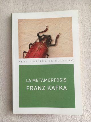 Libro 'La metamorfosis' de Franz Kafka