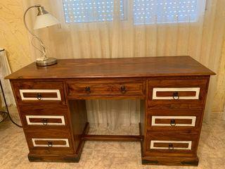 escritorio rústico colonial macizo