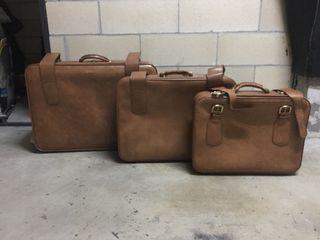 Juegos de tres maletas vintage