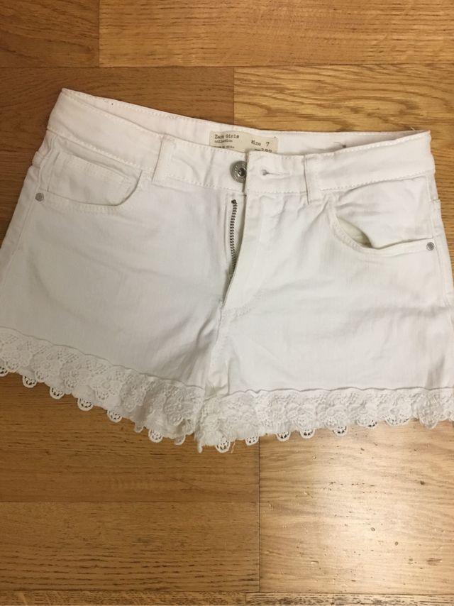 último descuento sitio autorizado nueva lanzamiento Short/Vaquero corto blanco niña Zara talla 7!! de segunda ...