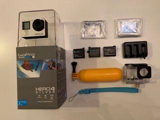 GoPro Hero 4 Silver edition + 3 baterías...