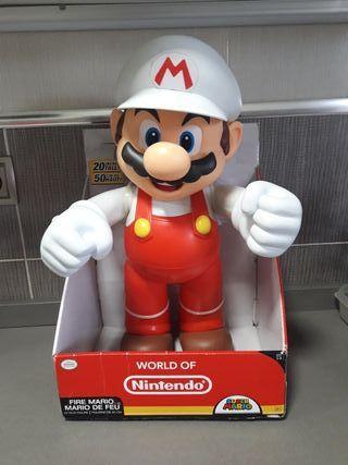 Figura Mario Bros Fuego 50 Cm.