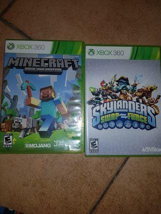 minecraft y skylanders xbox 360