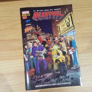 Comic de deadpool y la resistencia firmado