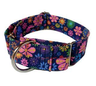 Collar antiescape para perros, estampado flores