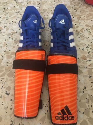 Botas de fútbol y espinilleras ADIDAS N38