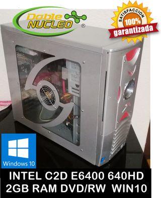 68€ INTEL C2D E6400 640HD 2GB RAM W10