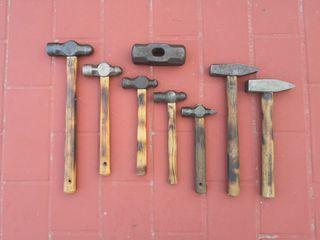 Lote de martillos de herrero