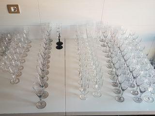 cristalería más de 100 piezas