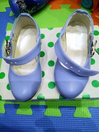 Zapatos flamenca color azul cobalto