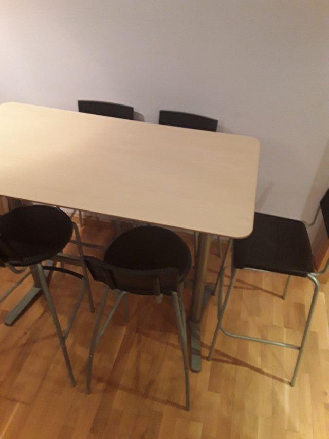 MESA ALTA COCINA Y 5 SILLAS IKEA. URGE. de segunda mano por 30 € en ...