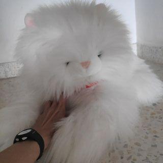 Peluche gato blanco