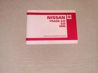 manual de instrucciones Nissan TRADE van 1989