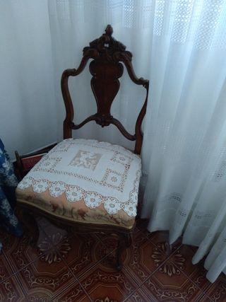 silla estilo luis xvi