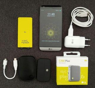 LG G5 + cargador + camplus + Hi-fiplus + 2 batería