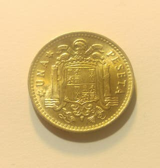 juan Carlos I 1975 moneda de 1 peseta sin circular
