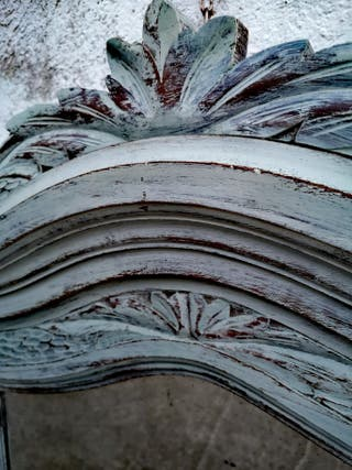 Espejo madera maciza roble antiguo