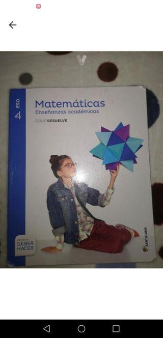 libro 4 eso matematicas academicas