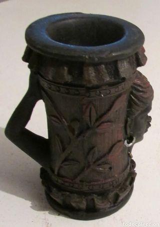 Vaso étnico madera con detalles