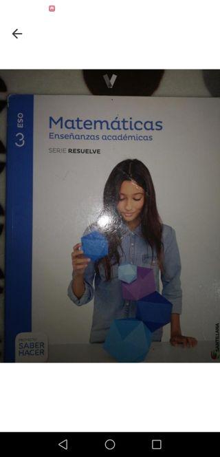 libro matemáticas 3 eso academicas