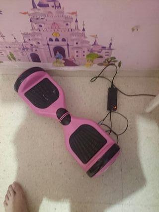 patín eléctrico rosa