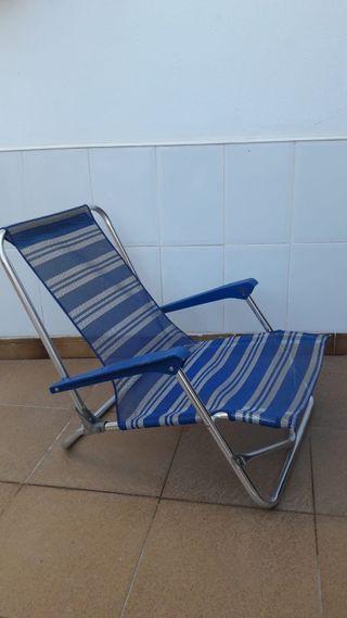 silla d playa aluminio