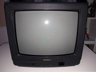 """Televisión 14"""" marca Kneissel color negro"""