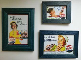 Cuadros Pepsi cola vintage