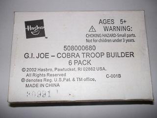 GI JOE COBRA TROOP B.A.T. 6-Pack V4 2003 GIJOE