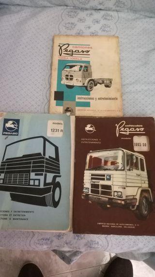 Libros de mantenimiento e instrucciones de pegaso.