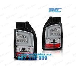 PILOTOS VW T5 03-09 LIGHT BAR CROMO