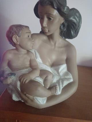 figura lladro original busto madre