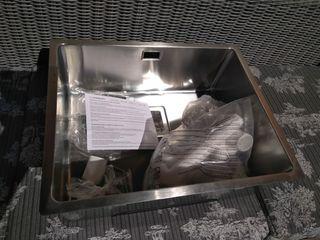 lavabo bajo encimera inox
